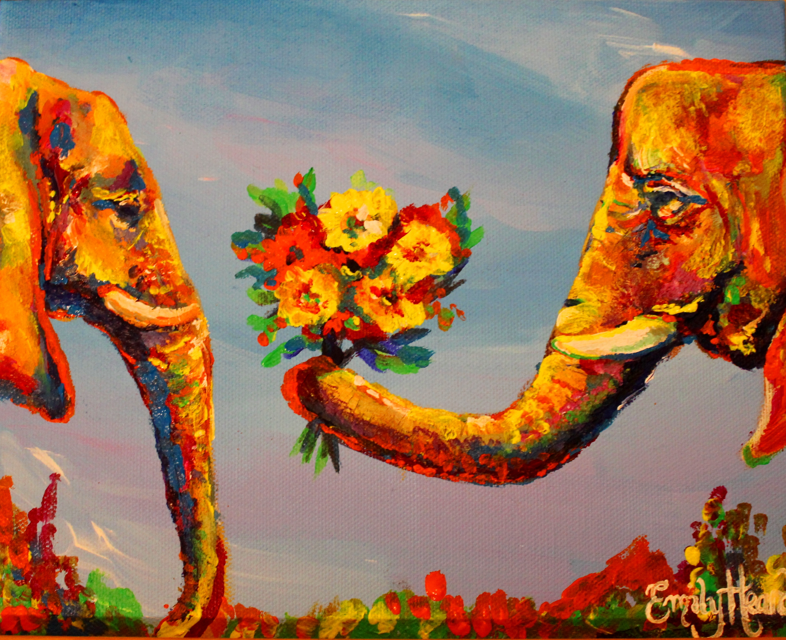 Elephants in Love- A Favourite Painting | Emily Louise Heard - photo#14