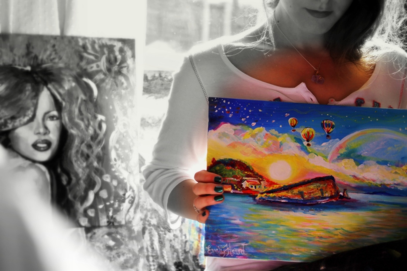 Me and my paintings :)