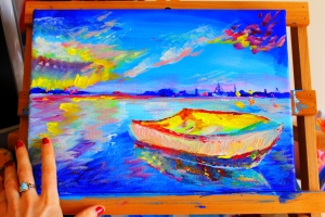 Sorbet Sunset- Progress Painting