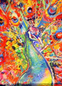Psychedelic Peacock 2014- Emily Louise Heard