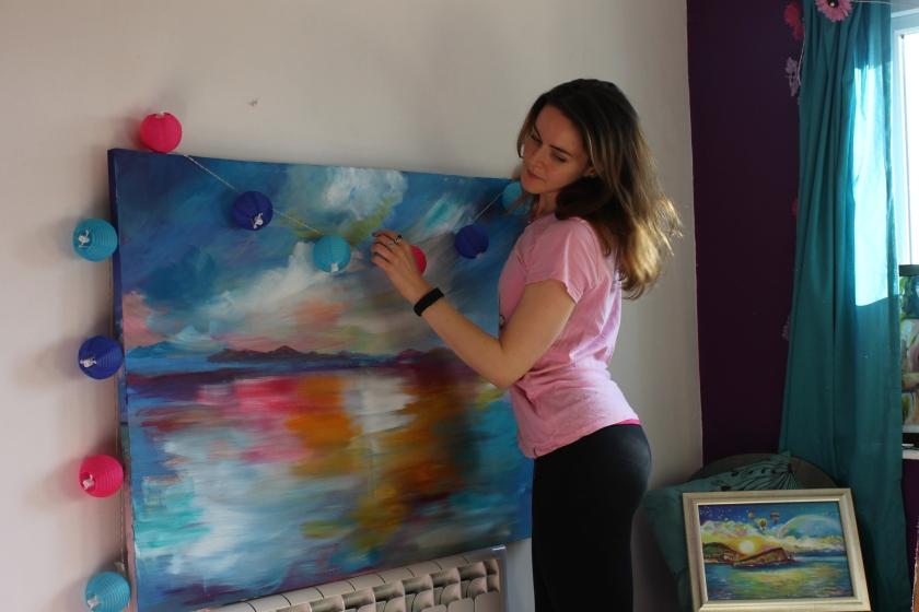 emily louise heard art, emily heard, colourful art, landscape, abstract
