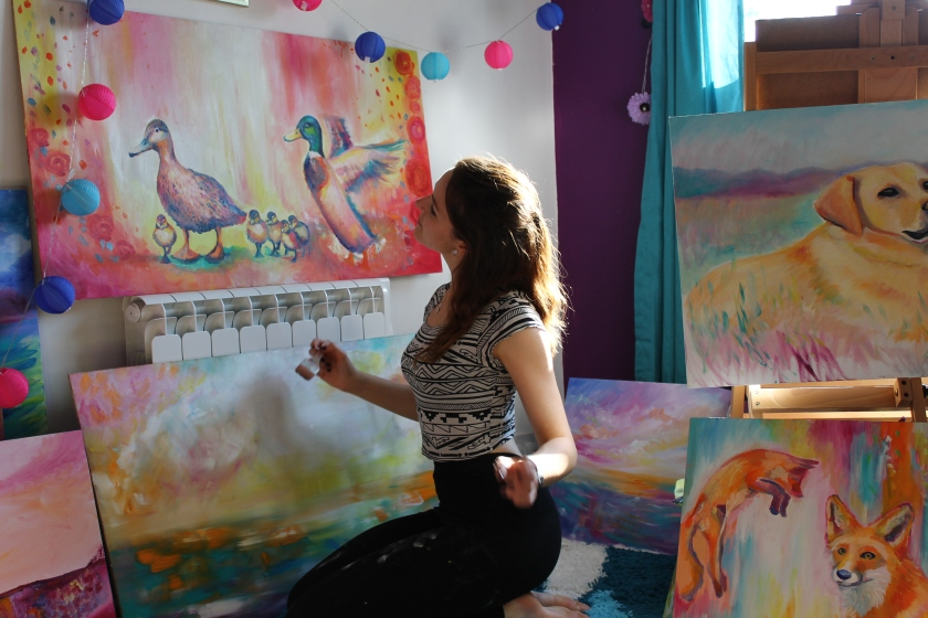 emily louise heard art, colourful paintings
