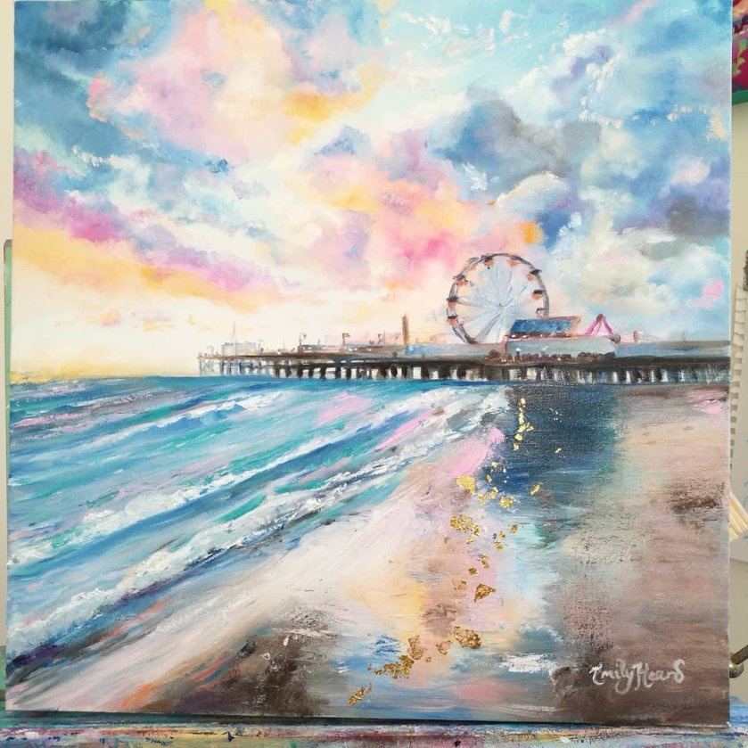 Ferris wheel painting by Emily Louise Heard