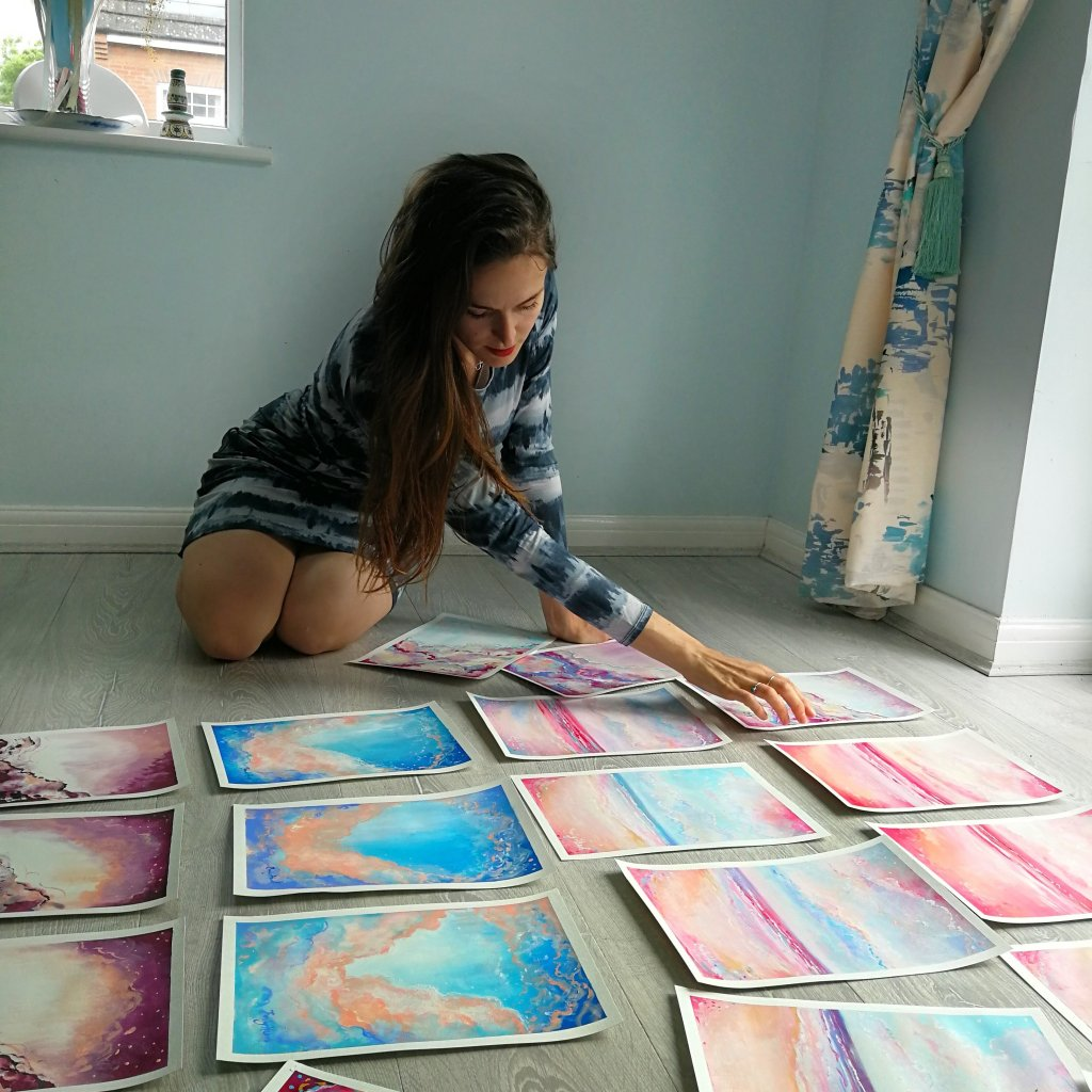 Artist in studio Emily Louise Heard
